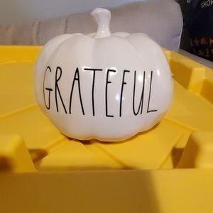 """Rae Dunn """"grateful"""" baby pumpkin"""